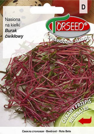 Burak liściowy czerwony - Nasiona na kiełki 10g